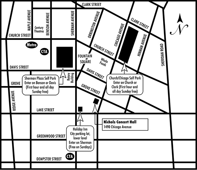 Click Map To View Larger Nichols Parking Map