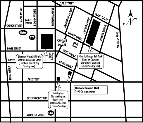 Nichols Parking Map