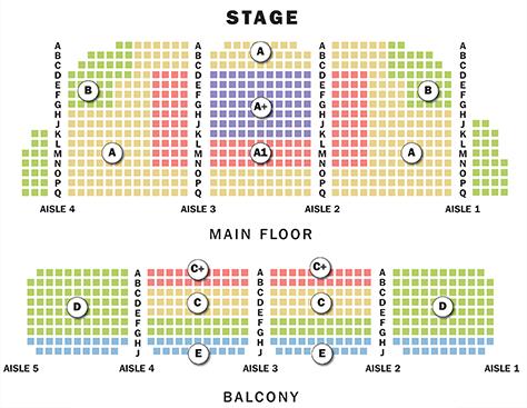 Cahn Auditorium Seating Chart