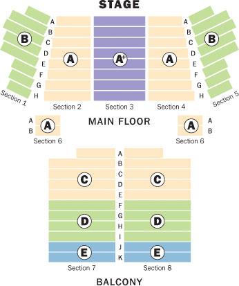 Nichols seating chart